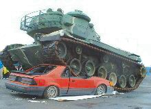 tank-crushes-car