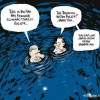 treading water budget cartoon