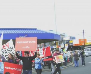 Demonstration crossing intersection in Henderson