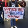 Asset theft National disgrace Demo Auckland Dec 2012