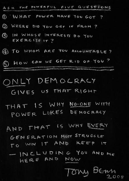 Tony Benn only democracy