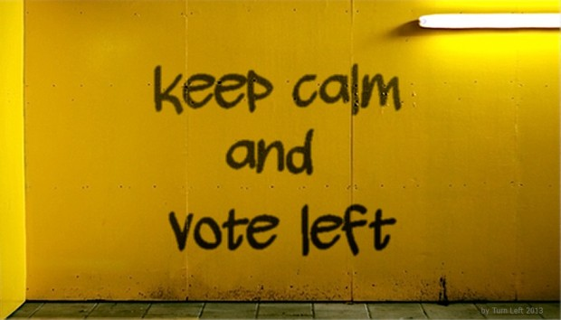 Keep calm vote left