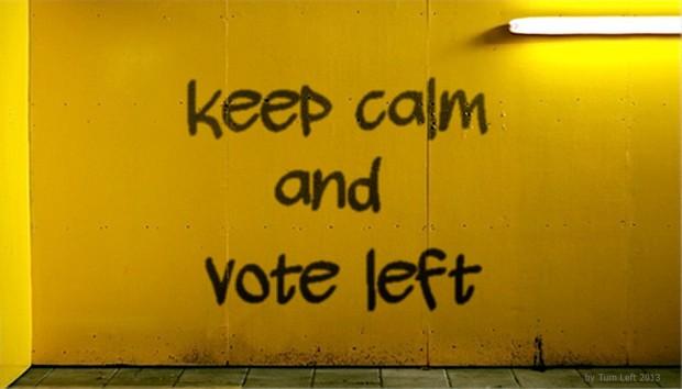 Keep calm vote left