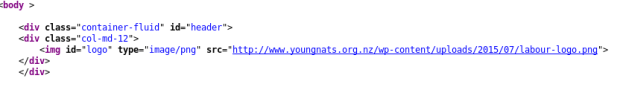 YoungNats have a labour logo