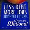 National less debt more jobs