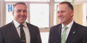 mike sabin and john key