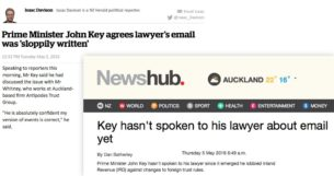 john key hasn't spoke to his lawyer