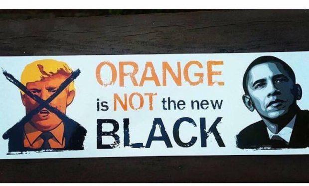 Obama Trump orange is not the new black