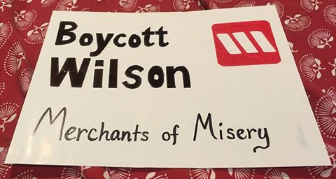 Boycott Wilsons merchants of misery