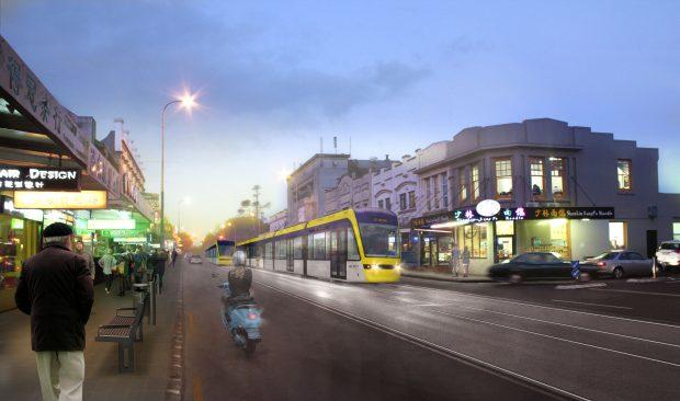 light-rail-dominion-road-visualisation