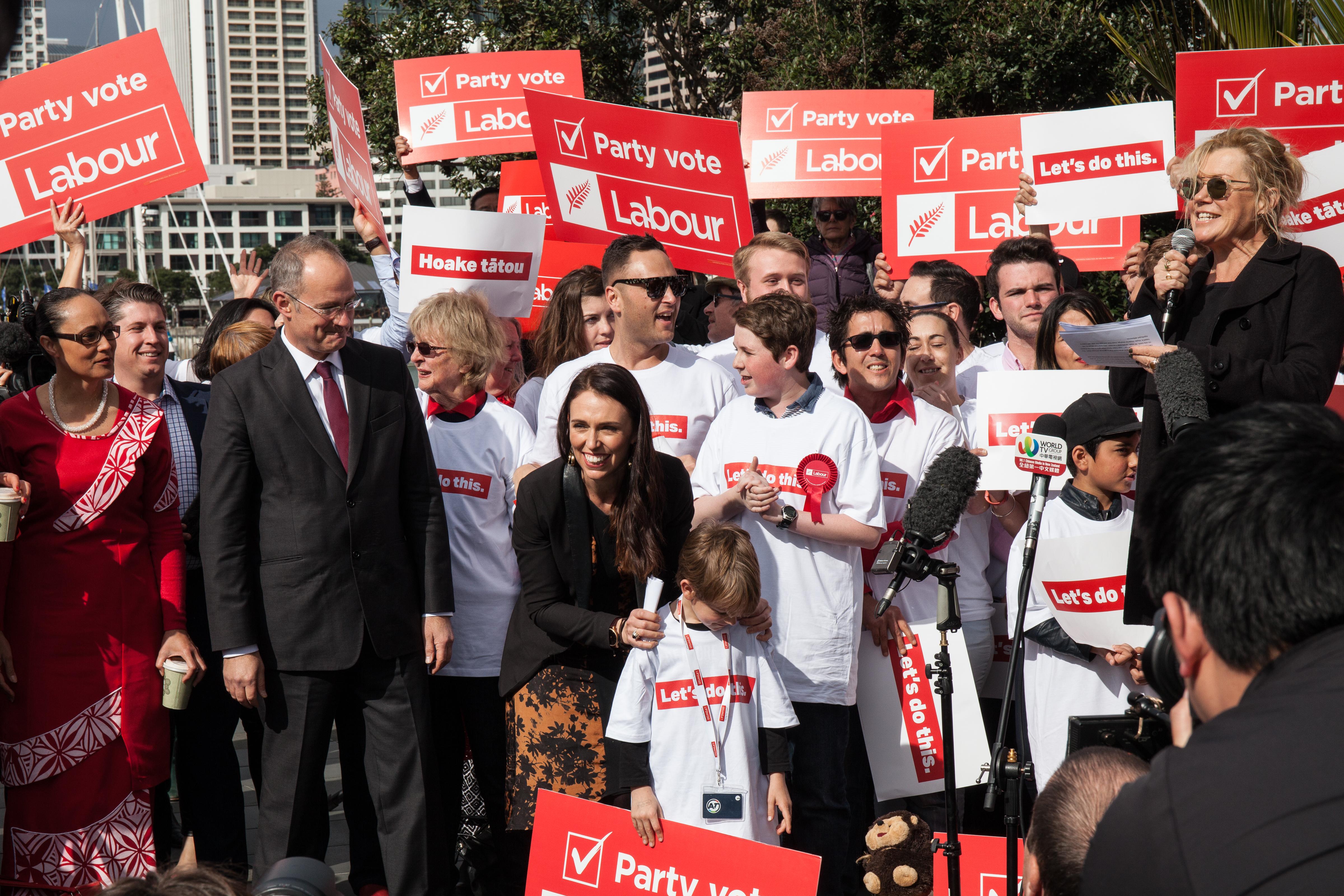 Labour Transport launch Jacinda Ardern Robyn Malcolm Phil Twyford