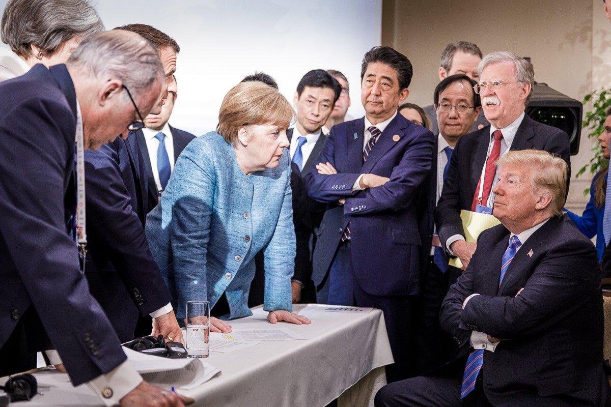Angela Merkel Donald Trump G7
